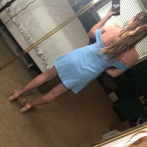 by the way. Dresses - Blue off the shoulder dress